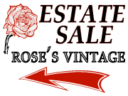 Rose's Vintage sale signs